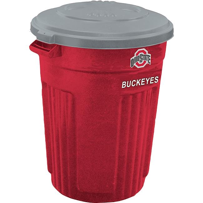 Ohio State 32-gallon Trash Can