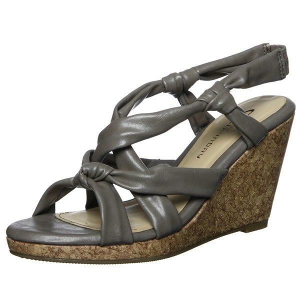 CL by Chinese Laundry Women's 'Alondra' Taupe Wedge Sandals FINAL SALE