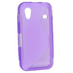 Frost Purple S Shape TPU Rubber Skin Case for Samsung Galaxy Ace S5830 - Thumbnail 1