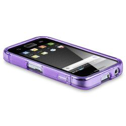 Frost Purple S Shape TPU Rubber Skin Case for Samsung Galaxy Ace S5830 - Thumbnail 2