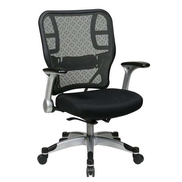 Office Chair with Mesh Seat and Flip Arms