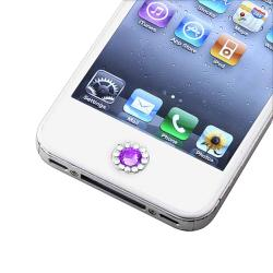 INSTEN Purple Diamond Home Button Sticker for Apple iPhone/ iPad/ iPod Touch - Thumbnail 2
