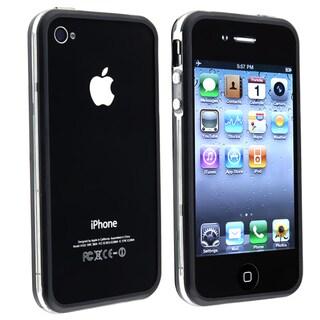 Clear/ Black TPU Rubber Skin Bumper Case for Apple iPhone 4/4S