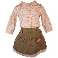Laura Ashley Baby Girl's Flowered Shirt and Skirt Set