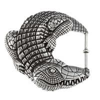 Pewter Alligator Design Large Buckle