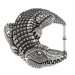 Pewter Alligator Design Large Buckle