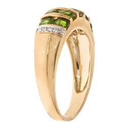 D'Yach 10k Yellow Gold Chrome Diopside and Diamond Accent Ring - Thumbnail 1