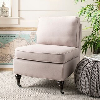 Safavieh Bosio Beige Linen Armless Club Chair