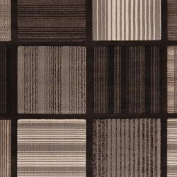 Meticulously Woven Contemporary Grey Accessory Geometric Squares Rug (7'10 x 11'2) - Thumbnail 2
