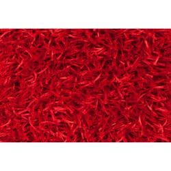Hand-woven Red Lugo Soft Shag (3'6 x 5'6)