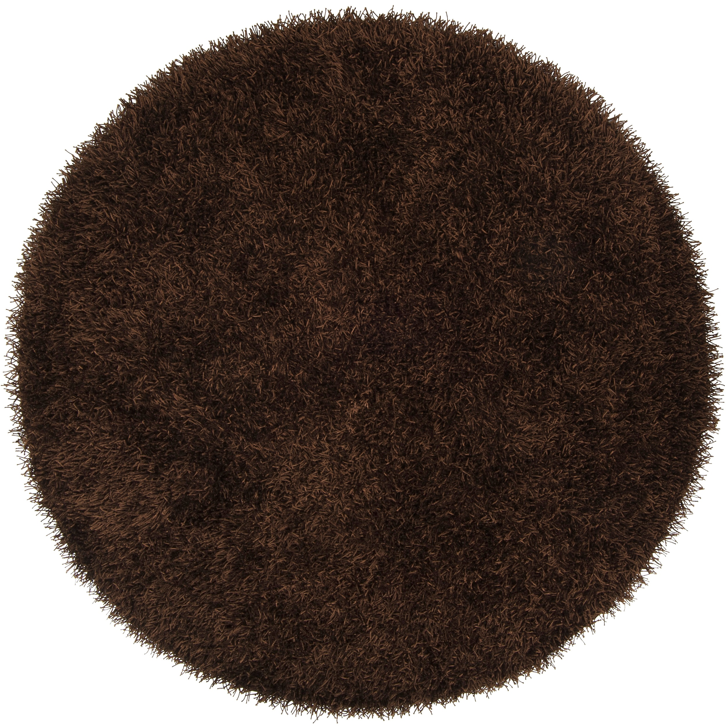 Hand-woven Brown Pager Soft Shag (6' Round)