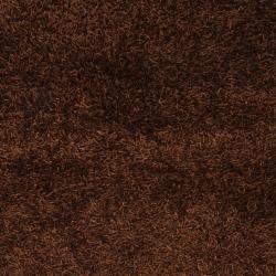 Hand-woven Brown Vivid Soft Shag (2'6 x 4'2)
