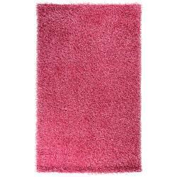 Hand-woven Pink Salado Soft Shag (2'6 x 4'2)