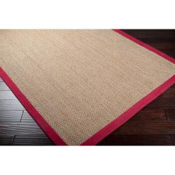 Hand-woven Red Flawless Seagrass Rug (8' x 10') - Thumbnail 1
