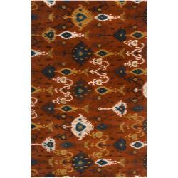 Hand-tufted Red Akutan New Zealand Wool Area Rug (3'3 x 5'3) - Thumbnail 0