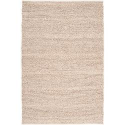 Hand-woven Casual Solid Beige Anvik Wool Area Rug (8' x 10') - Thumbnail 0