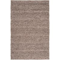 The Gray Barn Magda Hand-woven Casual Solid Brown Wool Area Rug - 5' x 8'