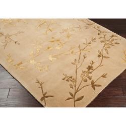 Hand-tufted Beige Chevak Wool Rug (3'6 x 5'6)