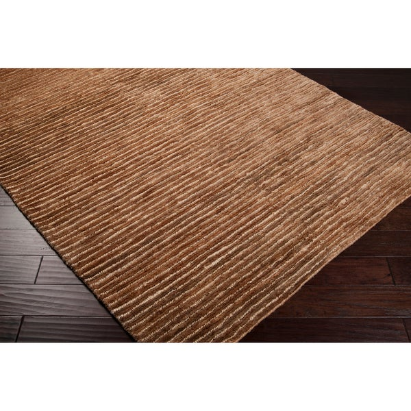 "Handwoven Beige Stripes Trinidad Natural Fiber Hemp Rug (3'3"" x 5'3"")"