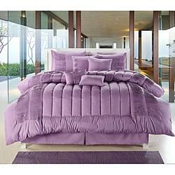 Shop Purple 8 Piece Oversized Comforter Set Free