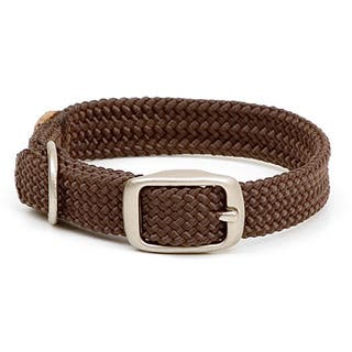 Mendota Brown Double-braided Nylon Collar|https://ak1.ostkcdn.com/images/products/6608417/P14177974.jpg?impolicy=medium