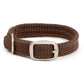 Mendota Brown Double-braided Nylon Collar