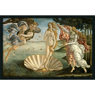 Sandro Botticelli 'The Birth of Venus ca. 1484' Framed Art Print with Gel Coated Finish