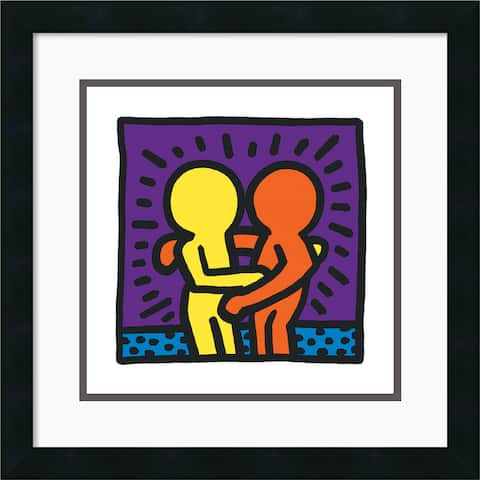 Framed Art Print 'Untitled 1987' by Keith Haring 18 x 18-inch