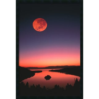 Lake Tahoe At Night' Framed Art Print with Gel Coated Finish