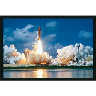 Framed Art Print Space Shuttle Take-Off 38 x 26-inch