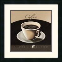 Framed Art Print 'Coffee' by L. Sala 18 x 18-inch