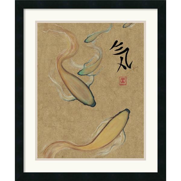 Barbara Psimas 'Energy I (Gold)' Framed Art Print