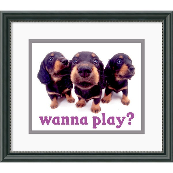 Yoneo Morita 'Wanna Play?' Framed Art Print