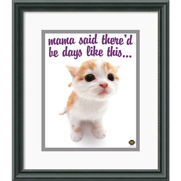 Yoneo Morita 'Mama Said...' Framed Art Print
