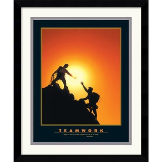 Teamwork (Climbers)' Framed Art Print