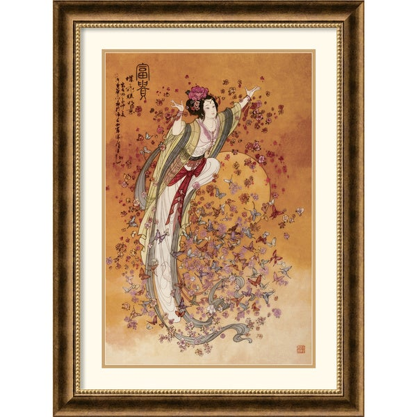 Framed Art Print 'Goddess of Wealth' by Chinese 24 x 32-inch