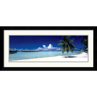 Framed Art Print 'Tropical Beach (Panel)' 43 x 20-inch