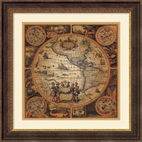 Framed Art Print 'Cartographica 2' by Max Besjana 29 x 29-inch