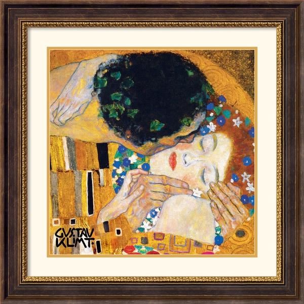 Gustav Klimt 'The Kiss (Der Kuss) 1' Framed Art Print