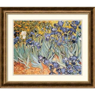 Vincent van Gogh 'Irises In The Garden' Framed Art Print