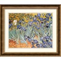 Framed Art Print 'Irises In The Garden, 1889' by Vincent van Gogh 28 x 24-inch