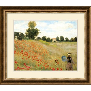 Claude Monet 'Poppies at Argenteuil, 1873' Framed Art Print