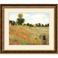 Framed Art Print 'Poppies at Argenteuil, 1873' by Claude Monet 29 x 25-inch