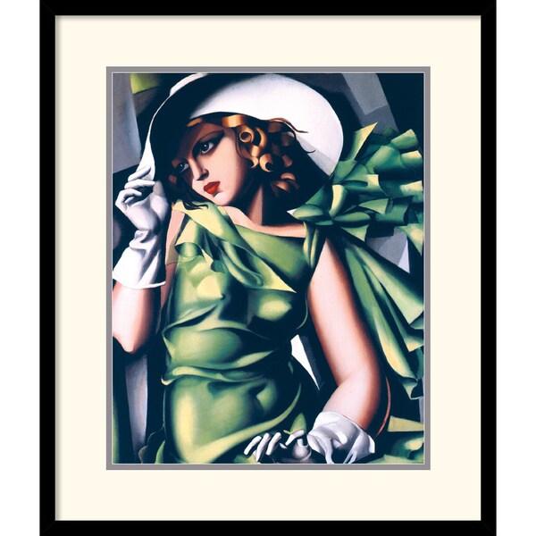 Tamara de Lempicka 'Jeune Fille En Vert' Framed Art Print