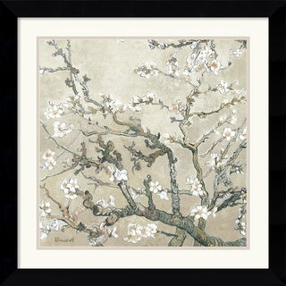 Vincent van Gogh 'Almond Branches in Tan' Framed Art Print