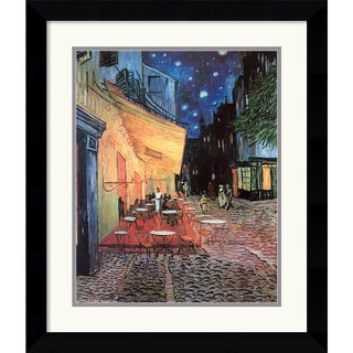 Framed Art Print 'Cafe Terrace At Night, 1888' by Vincent van Gogh 24 x 28-inch