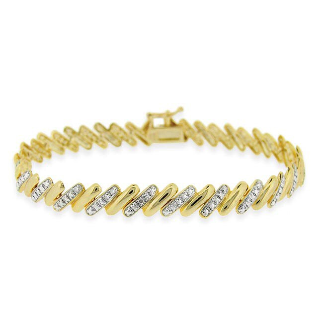 Mondevio Gold Over Silver Two Tone San Marco Bracelet