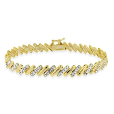 Mondevio Gold Over Silver Two-Tone San Marco Bracelet