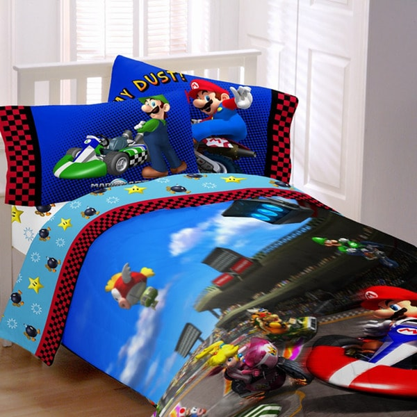 Super Mario 'The Race is On' Full-size 5-piece Bed in a Bag with Sheet Set