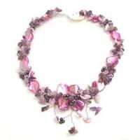 Handmade Shells  Hidden Floral Toggle Necklace (Thailand)